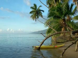 Schöner Inselblick aufs Meer