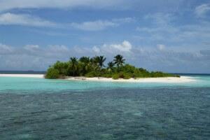 Weit entfernte Insel